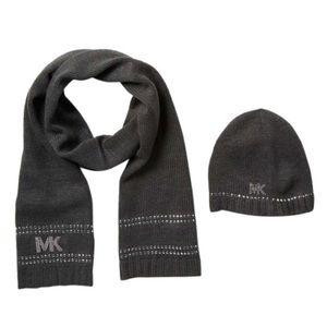 Michael Kors 2-Pc. Studded Hat & Scarf Gift Set